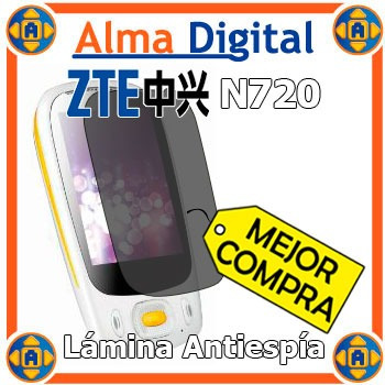 Lamina Protector Pantalla Antiespia Zte N720 720 Antichisme