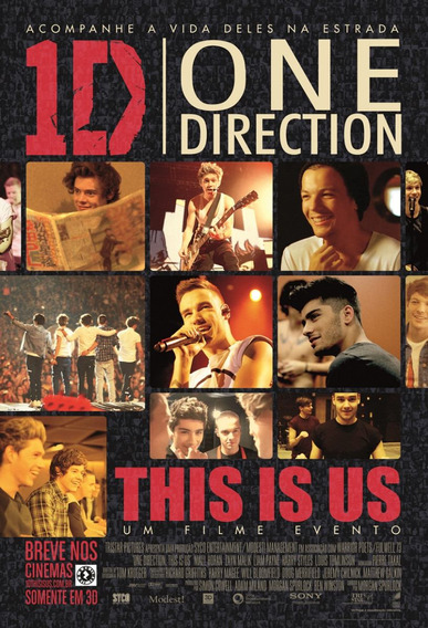 Poster Médio (imp. Offset) Do One Direction : This Is Us