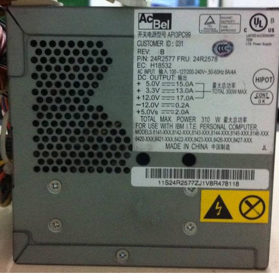 Fonte Atx Modelo - Api3pc99- Ibm E Lenovo