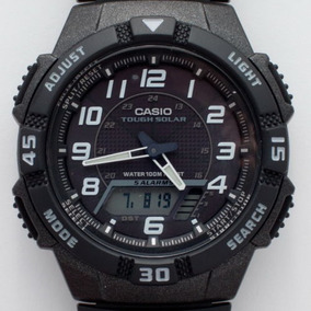 Relogio Casio Solar Aq-s800 World Time 100% Novo E Original!