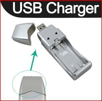 Cargador Baterías Usb Recargable Aaa Aa iPhone 5 Gaxaxy Nimh