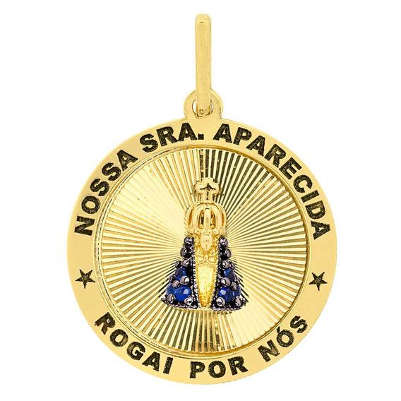 Pingente Lulean De Nossa Senhora Aparecida Em Ouro 18k(750)