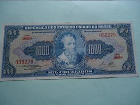 Cédula De 1000 Cruzeiros 1958 C052 Soberba Linda