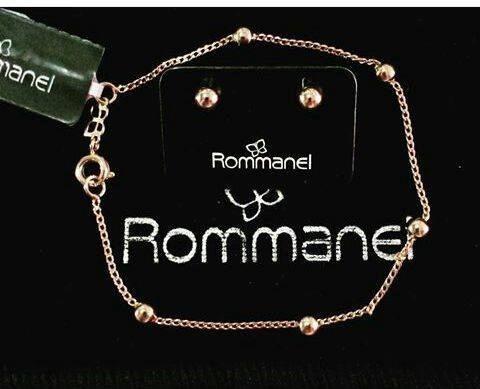 Rommanel Pulseira+brinco Bola Folheado Ouro 520246 550194