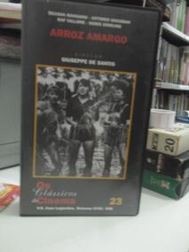 Fita Vhs - Os Classicos Do Cinema Arroz Amargo 23