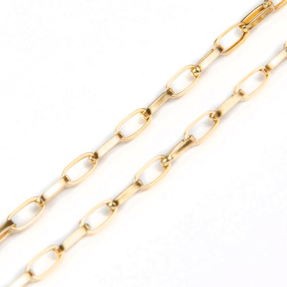 Corrente Em Ouro 18kcartier Ovalada 60cm