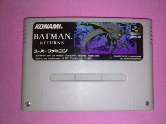 Batman Returns Original Super Nintendo Famicom Snes