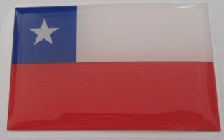 Bandeiras Adesivas Resinadas País Chile +brinde