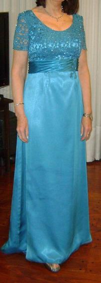 Vestido Fiesta Ideal Madrina De Vanina André C/chal Abrigo