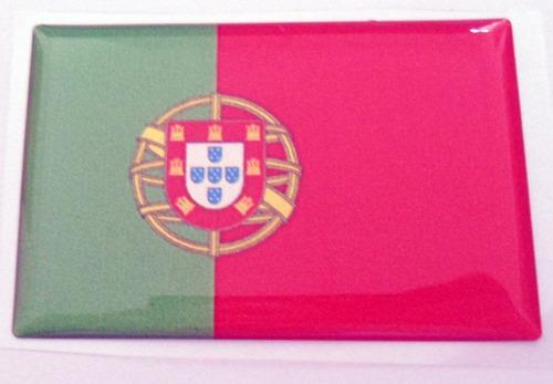 Bandeiras Adesivas Resinadas País Portugal +brinde