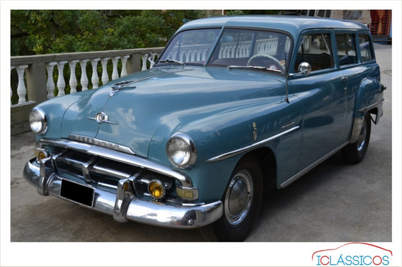 Chrysler Plymouth Utility Placa Preta 1951 Dodge