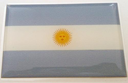 Imagem 1 de 2 de Kit Bandeiras Resinadas Argentina Brasil