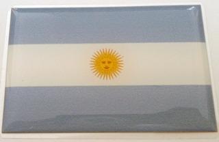 Kit Bandeiras Resinadas Argentina + Brasil +brinde