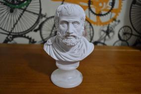 Escultura Busto Aristóteles Po Marmore 15cm Made In Italy