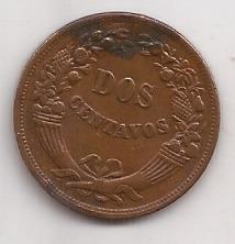 Peru Moneda De Cobre 2 Centavos Año 1948 !!!!