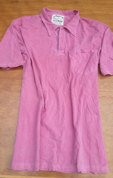 Playera Polo Pepe Jeans London Rosa Talla Mediana Original
