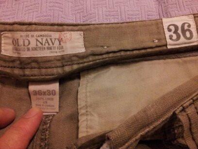 Pantalon Importado Old Navy Lino 100% Marron Claro