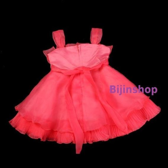 Vestido Infantil Bebê Festa Princesa Rosa