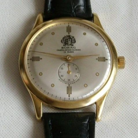Relógio De Pulso Masculino A Corda Sorag - 15 Rubis,