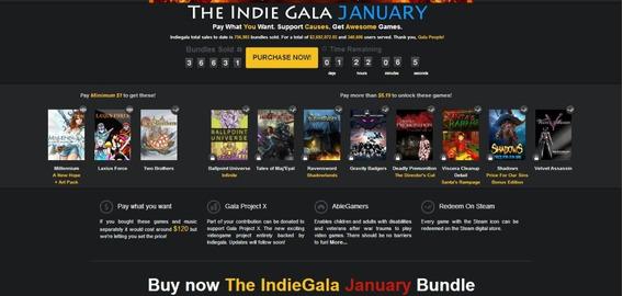 Indie Gala January Bundle