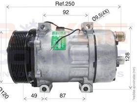 Compressor Ar Condicionado Ducato Boxter Jumper 7h15 8pk