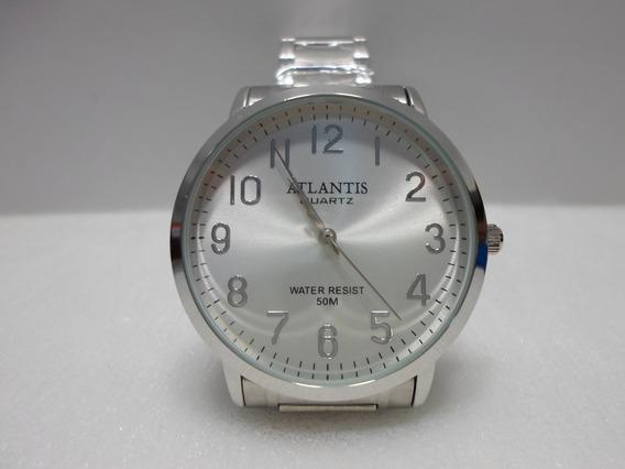 Relógio Unisex Masculino Social Ponteiro Quartz Branco Aço