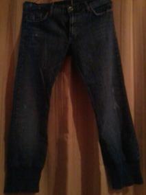Jeans Pescador Con Pata Elasticada, Talla 40