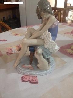 Pieza Lladro Preparandose Para El Ballet