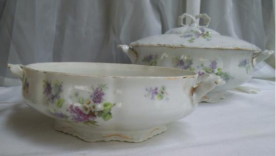 Sopera Y Guisera Porcelana Alemán Altwasser Silesia W Vajill
