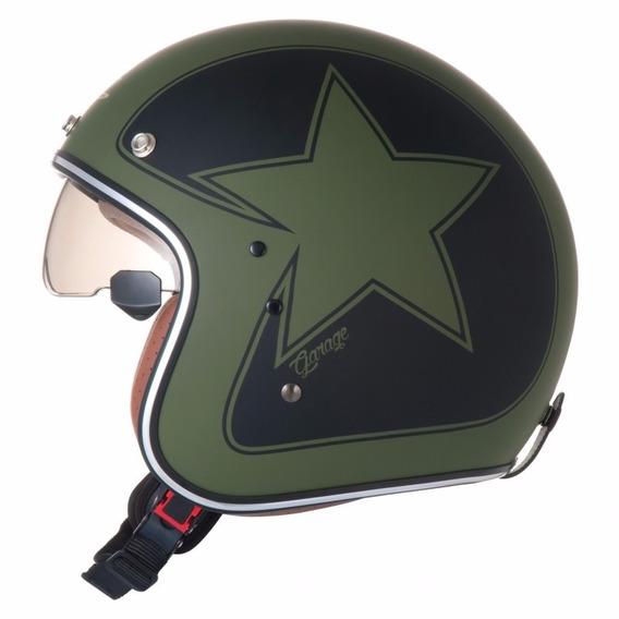 Capacete Custom Zeus 380fa Star Matt Vintage