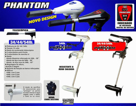 Motor Elétrico Phantom Digital Marinizado 44lb Nf Garantia