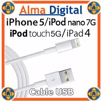 Cable Cargador Usb Datos iPhone 5 6 7 Touch5 Nano7