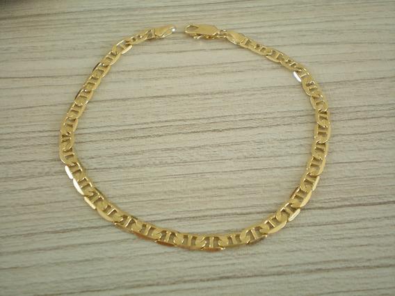 Pulseira Palito Dourado(aço) Masculina