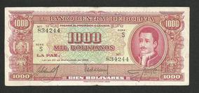 Bolívia 1000 Bolivianos 1945 P. 149 Mbc Cédula - Tchequito
