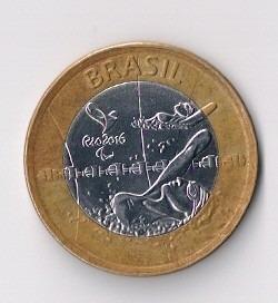 M4 Moeda Comemora Olimpíadas Rio 2016 - Natação Paraolímpica