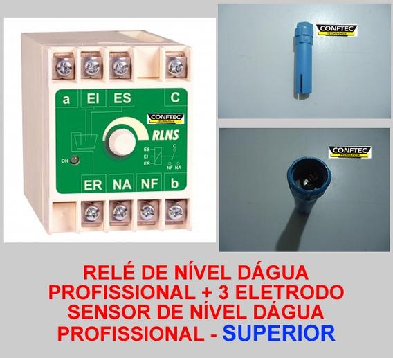 Relé Nível Superior + 3 Sensores Profissional Aquicompras