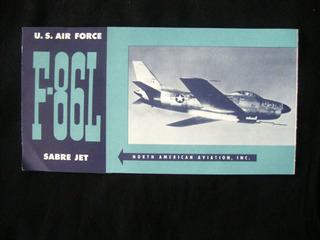 Avião Catálogo Antigo F- 86l Sabre Jet Publicação Antiga