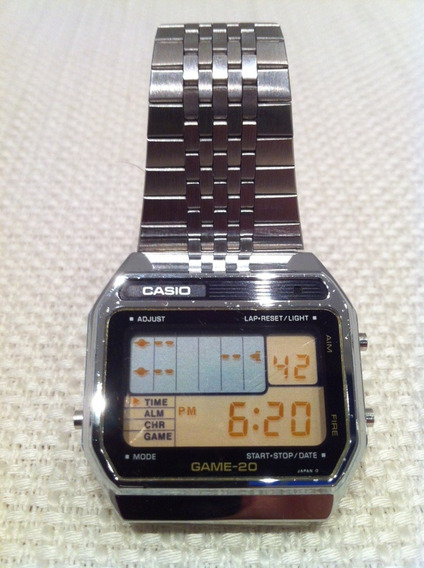 Relogio Casio Game 20 Raríssimo Único Dono 1980 10 20 30 40