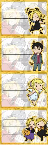 Etiquetas De Colegio De Anime De Fullmetal Alchemist Chibis