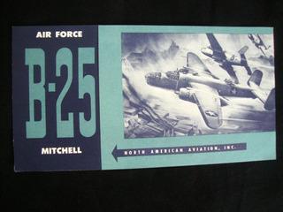 Avião Catálogo Antigo B - 25 Mitchell Publicação Antiga
