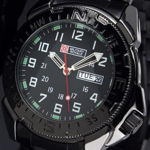 Relógio Military Royale Suíço Army Watch Mr004 Calendário