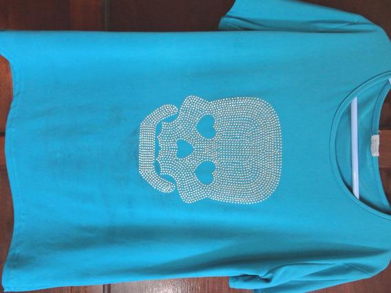 Camiseta Blusa Femnina Estampa Caveira