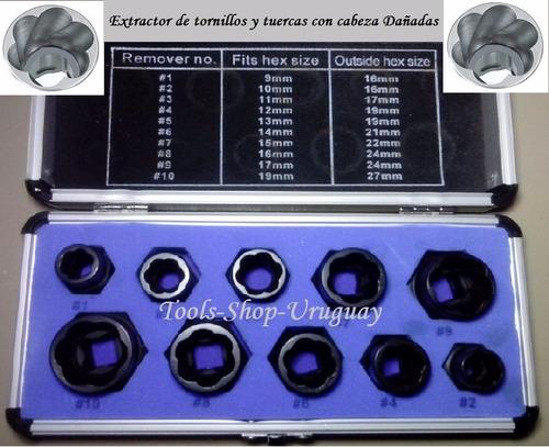 Extractor De Tornillos Y Tuercas Con Cabeza Dañada Eurotech