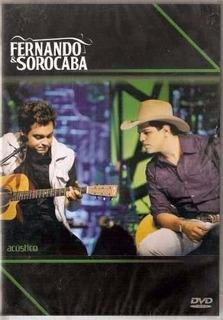 Dvd Fernando E Sorocaba - Acústico (original E Lacrado)