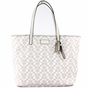 Bolsa Coach Original Parker Dream Tote Bag - Dove And White