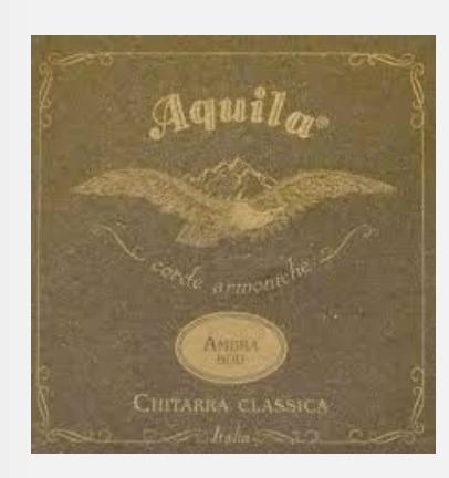Cordas Violão Aquila Ambra 900 Nylgut Itália - Históricas55c