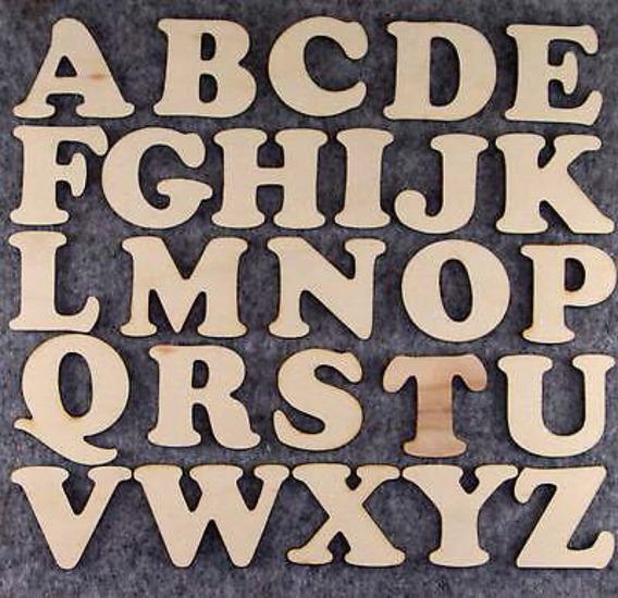Letras Fibrofacil Ideal Souvenirs 1cm Altura Pack 100unid