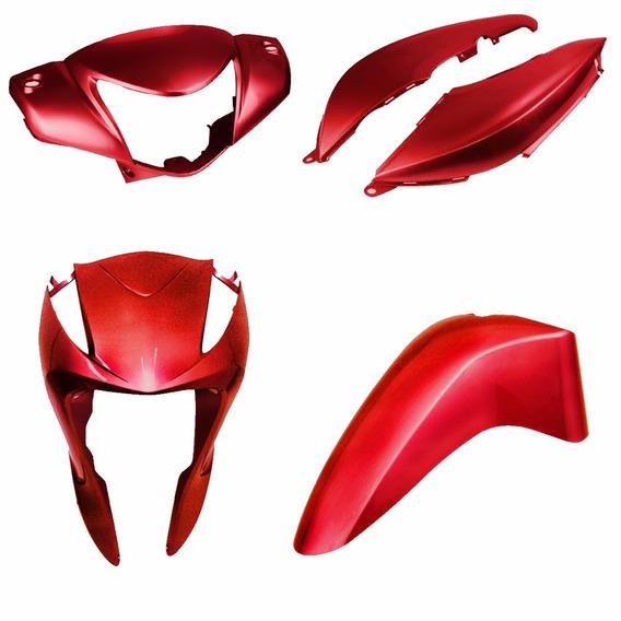 Kit Plástico Carenagem Moto Honda Biz 125 2010 À 2015