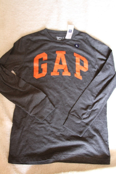 Camiseta Gap Manga Longa.original, 12 Anos. Xl