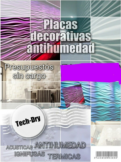 Placas De Pared Y Cielorrasos Antihumedad Y Decorativas